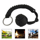 Monkey Fist Paracord Keychain Chain Keyring Military Steel Ball Survival Outdoor