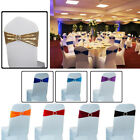 1pc Lycra Spandex Chair Cover Band Elastic Sash with Buckle for Wedding Decor