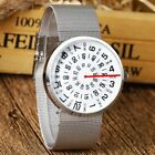 Black face Jump Hour Direct Read Retro 1960s Style Watch Men Paidu StainlessStee image