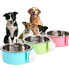 Stainless Steel Puppy Dog Feeder Feeding Foods Water Dish Bowl Hot Sale