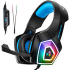 Universal V1 Gaming Headset 3D Estéreo LED Auriculares Para Tablet, PS3,PS4+Mic