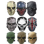 CS Games Skull Skeleton Full Face Mask Tactical Paintball Airsoft Protect Mask $19.99 USD on eBay