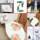 Christmas Toilet Seat Bathroom Diy Removable Wall Sticker Home Decor Decals Uk