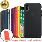 Luxury Original Genuine Silicone Back Case Cover For iPhone X 6s 7 8 Plus XR XS