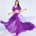 New Belly Dance Costume Outfit 2Pcs set of Chiffon Blouse top Skirt 14 colors