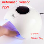 72W Quick Hand Sensor UV LED Nail Lamp Fit Curing Gels Nail Dryer  4 Timer New