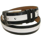 PGA Tour Men's Genuine Leather Wide Stripe Belt, Brand NEW
