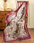 Couch Throw Blanket Country Quilt Sofa Barn Star Home Burgundy Black or Green
