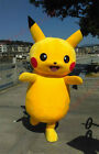 Brand Pokemon Go Pikachu Mascot Costume Cosplay Game Dress Adult Fancy Gift Hot