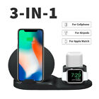 For Airpods Apple Watch Cellphones Qi Wireless Charger Fast Charging Station USA
