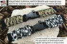 2019 Made in USA Camo Green Replacement Adjustable Survival Bracelet for Watches