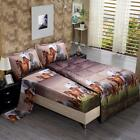 5 Piece Set Goose Down Alternative Comforter 3D Horse Print Wrinkle,Fade...  image