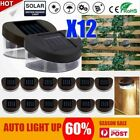 12x Solar Power Led Gutter Fence Lights Outdoor Garden Yard Pathway Lamp Au Post