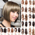 Bob Style Curly Synthetic Wigs with Bangs For Beauty Women Ombre Blonde Brown DW