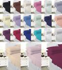 Plain Comfortable Pollycotton Flat Bedding Sheets Bolster V Shape Pollow Covers