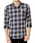 American Rag Mens Ramsay Patched Plaid Shirt