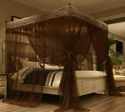 Coffee Princess 4 Corner Post Bed Canopy Mosquito Netting Full Queen King Size image