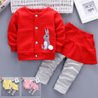 2Pcs Kids Baby Girl Toddler Tops Cardigan Long Pants Trousers Outfits Clothes