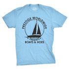 Mens Prestige Worldwide T shirt Funny Cool Boats And Hoes Tee