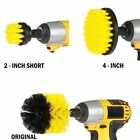 3 PCS Nylon Electric Drill Brush Attachment for Car Tile Grout Flooring Cleaning