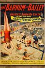 Poster, Many Sizes; Barnum & Bailey Circus Grand Water Ci...