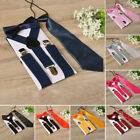 Children Kids Braces Bow Tie Necktie Set Suspenders With Bowtie Set For Boys