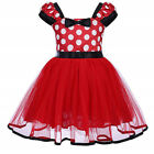 Minnie Mouse Costume Skirts Toddlers Polka Dot Girls Dress &Headband 1-6 Years