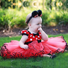 Minnie Mouse Costume Skirts Toddlers Polka Dot Girls Dress Headband 1 6 Years