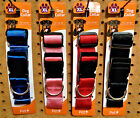 Внешний вид - PET INC Dog Collar XL Fray Resistant Heavy Duty D Ring Red/Black/Pink/Blue