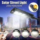 2In1 20W-60W Street Light Solar LED Radar Induction PIR Motion Outdoor Lamp New