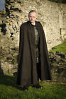 Black and Brown Cotton Cloak, LARP Medieval Reenactment Fancydress