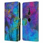 OFFICIAL HAROULITA MARBLE LEATHER BOOK WALLET CASE COVER FOR SONY PHONES 1