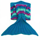 Different Type Sleeping Bag Handcrafted Crochet Knitted Mermaid Tail Blanket US