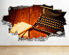 BB425 Vintage typewriter Cool Old Smashed Wall Decal 3D Art Stickers Vinyl Room