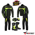 Brand New Motorbike Motorcycle Suit Cordura Waterproof Jacket Pant Leather Shoes