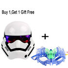 Glow Flshing Star Wars Mask Plastic Black White Warrior Darth + Luminous Mask