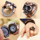 Retro Vintage Finger Skull Ring Watch Clamshell Watch Men women Fashion image