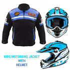 Kids motorcycle motorbike textile motocross jackets hemets children's clothing