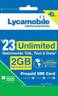LYCAMOBILE Preloaded Sim Card Prepaid $23/$29/$35 1/2/3 Months Text Talk Data <br/> ✅ With TRACKING # ✅ 622 Dial ✅ 622 Dial ✅ 622 Dial 622