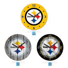Pittsburgh Steelers Wood Wall Clock Gift Round Office Home Room Decor