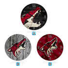 Arizona Coyotes Wood Wall Clock Gift Round Office Home Room Decor $11.99 USD on eBay