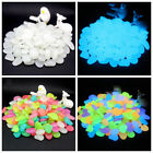 500Pcs Colorful Luminous Stones Pebbles Fish Tank Aquarium Home Yard Decor Z7H6