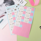 2PCS 2018 Calendar Stickers Notebook Monthly Category Planner Note Index Labe vK