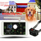 Wireless 2 Dog Fence Containment System Electric Transmitter Collar Waterproof
