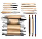 30 Clay Sculpting Set Wax Carving Pottery Tools Shapers Polymer Modeling Ceramic image