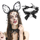 Gothic Sexy Lace Collar Pendant Bow Knot Bell Choker Necklace Women Jewelry New