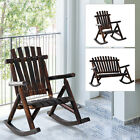 Rustic Outdoor Patio Adirondack Rocking Chair Patio Furniture Porch Rocker Fir