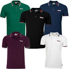 Lonsdale Lion Classic Polo Shirt 100% Cotton Pique Boxing Embroided Slim-Fit
