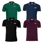 Lonsdale Lion Polo Shirt 100% Cotton Pique Boxing Embroidered Logo Slim-Fit Hemd