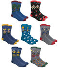 NOVELTY CASUAL FUNNY PEOPLE CHARACTER JOBS KNIT PATTERN MENS CREW SOCKS RETRO